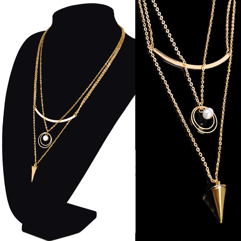 Gold Long Chain Pearl Necklace, Gold Long Chain Pearl Necklace ...