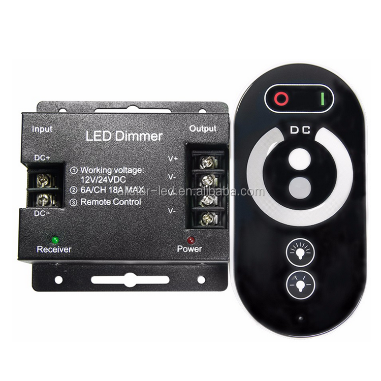 12V dimmer Touch remote control RF dimmer 18A For Single Color LED Strip 216W led light dimmer