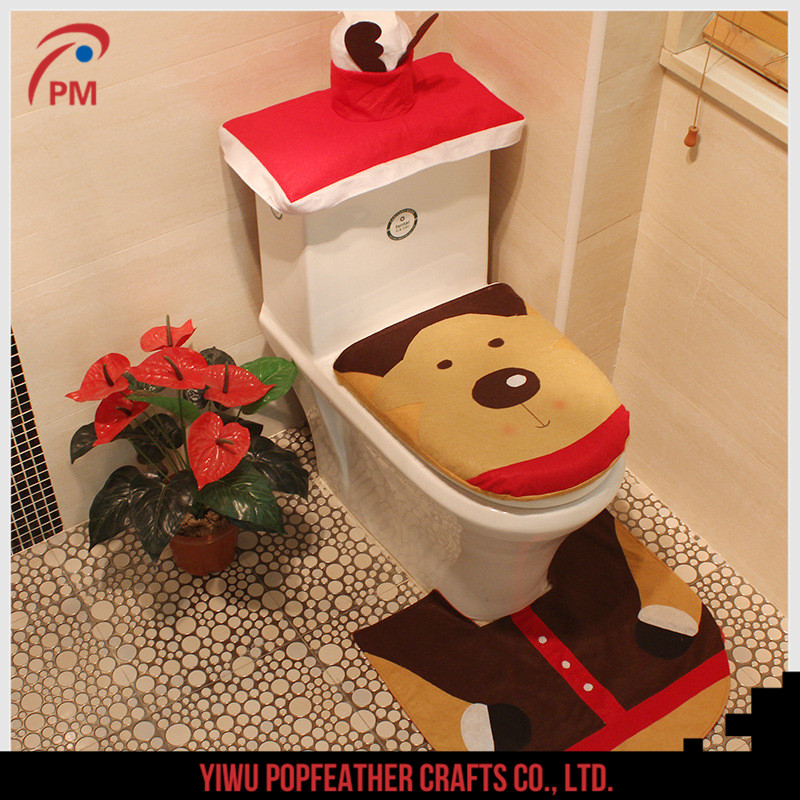 PM-1250 2017 <strong>Christmas</strong> decorations <strong>Christmas</strong> supplies <strong>Christmas</strong> elk toilet sets