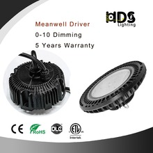 200W High Quality UFO High Bay Led Light 130LM/W Meanwell Driver 0-10V Dimmable