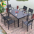 American style modern PS wood 5 stars hotel outdoor patio garden dining tables and chairs set