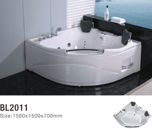 acrylic comfortable and individual massage bathtub with pillow for double person