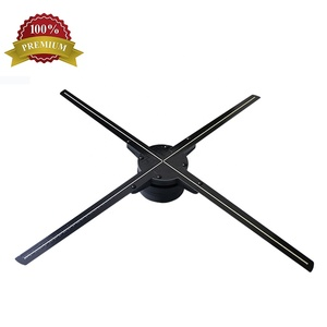 2019 hologram graphics projection 65cm wifi 3d advertising display led fan  video maker wholesale