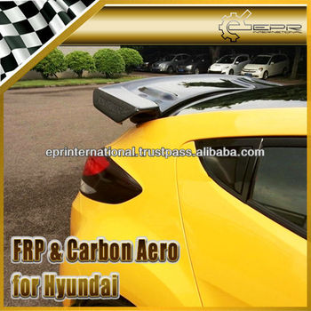 For Hyundai Veloster Turbo Gamma Carbon Fiber Rear Roof Spoiler