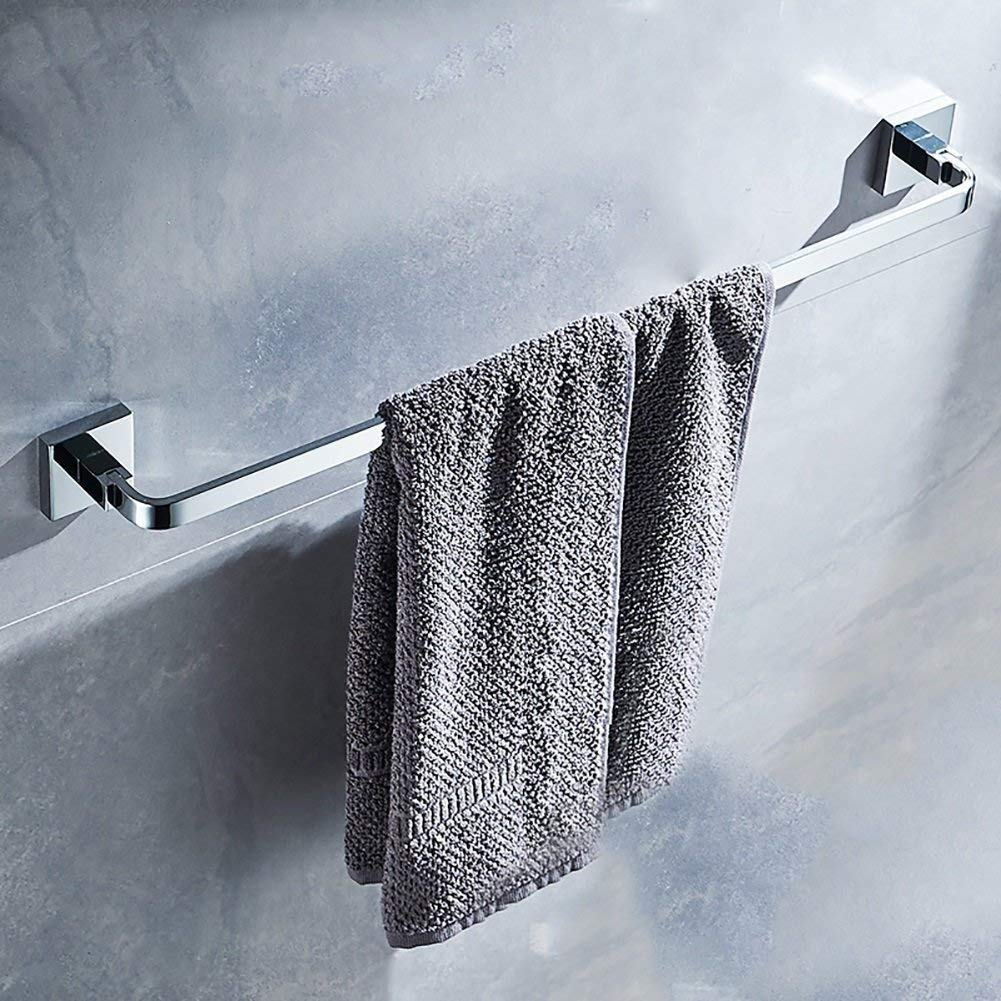 EQEQ Towel Rack Towel Rack/Fully The Single Copper Rod Solid Towel Rail Single Layer Towel Trailers in The Stainless Steel Color/New List (Size: 50Cm).