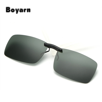 f02fc3fa2e Classic Polarized Lens Sunglasses Clip on Myopia Glasses Rimless Men Women  Night Vision Driving Sunglass Flip