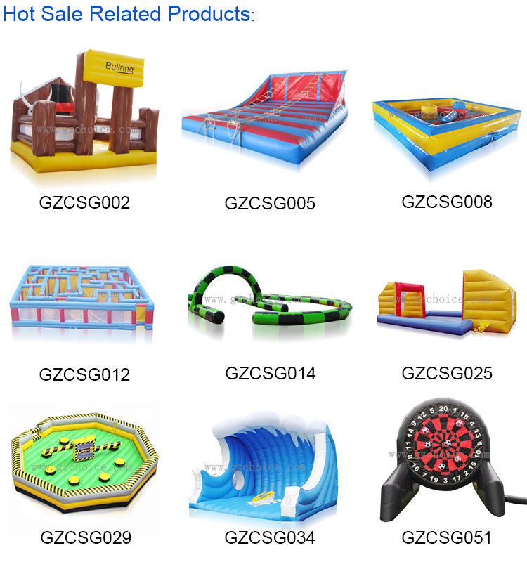 Popular Giant Outdoor Funny Interactive inflatable Wipeout Course For Sale Inflatable machine