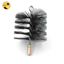 "6"" Square Trendy Style Master Sweep Ova Oil Tempered Card Steel Wire Spiral Flexible Chimney Brush"