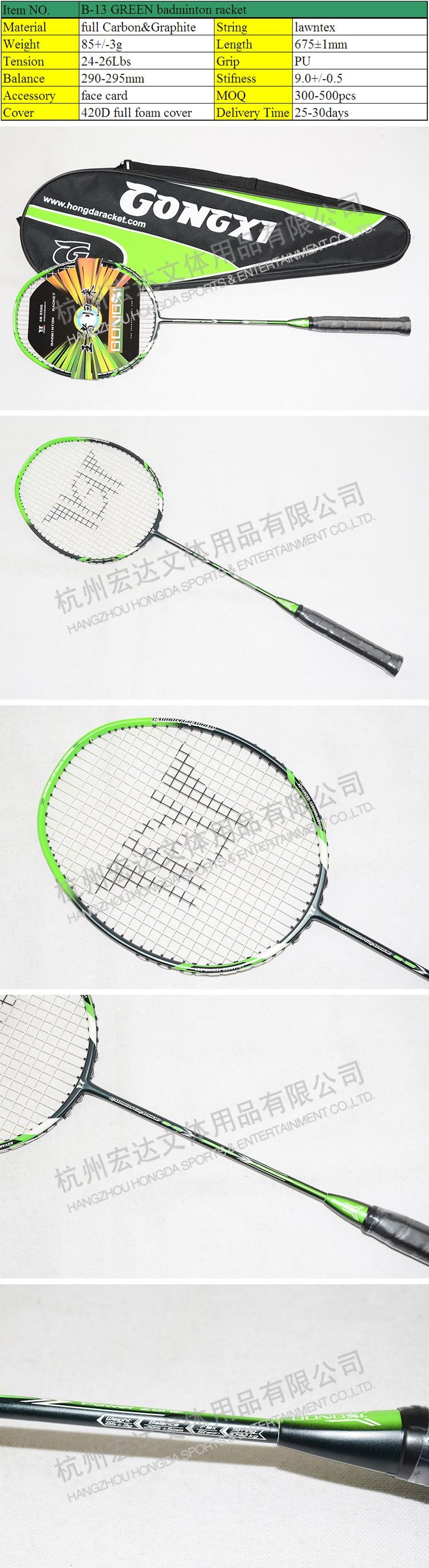 B 13 Hijau Berkualitas Tinggi Raket Bulutangkis Karbon Grafit Yonex  Bagian Yang Berbeda Badminton