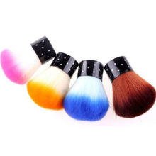 Random Color 1 Piece Nail Polish Brush For Acrylic & UV Gel Nail Art Dust Cleaner Nail Art Tools