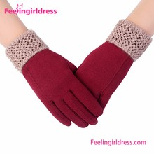 Wholesale Warp Knitted Velvet Gloves Personalized Winter Gloves