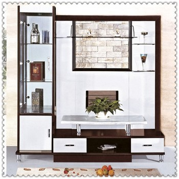 2014 Modern Art Styles Glass Display Cabinets 9915# Wooden Living Room  Cabinet Wall Units Part 96