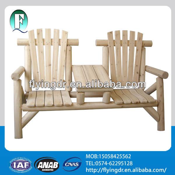 Adirondack bois double chaise chaises en m tal id de for Chaise adirondack bois