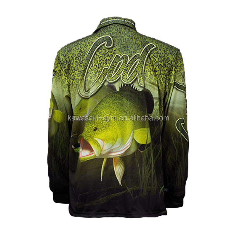 100% polyester design sublimated youth fishing jersey wholesale bass