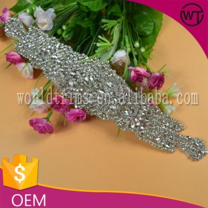 Wholesale Various High Quality Rhinestone Applique Belt Products embroidered applique for dress sash belts