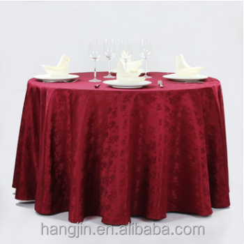Superb Jacquard Restaurant Hotel Round Japanese Table Cloth For Party Table Cloth  Wedding