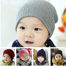 Cute Caps Baby Beanie Hat for Girls Boys Candy Color Children Hat Baby hat