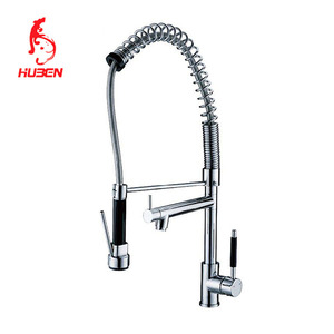 Chrome Faucet Spray pull out 3 way kitchen sink mixer tap