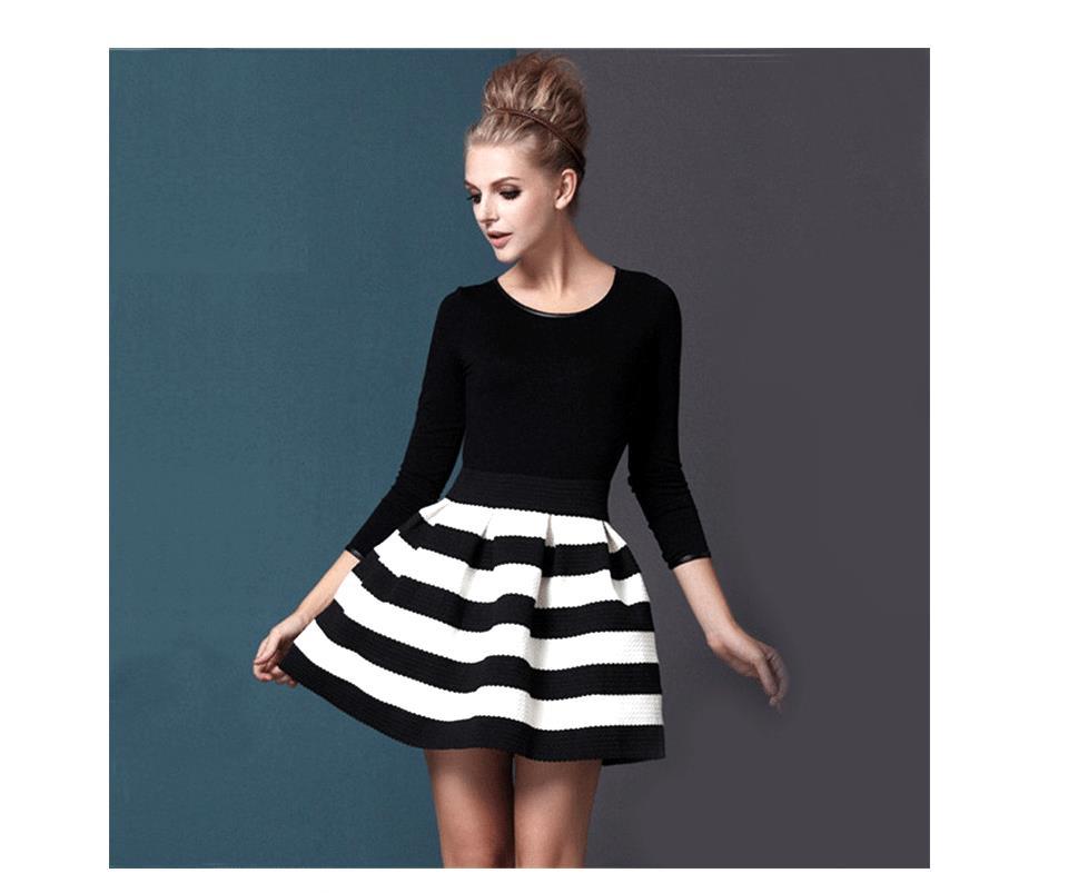 Ganz und zu Extrem Kleid Schwarz Weiß - asktoronto.info @OE_61