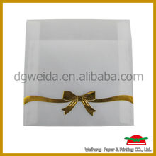 wedding inviation paper card with butterfly ribbon