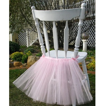 Wedding Birthday Party Decorative Supplies Chair Sash Tutu Skirt Chairs Cover