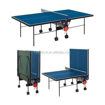 Foldable Ping Pong Table.12mm Mdf Top Ping Pong Table Indoor Game Center Fold Up Table Tennis Table With Big Wheels View Double Fold Table Tennis Table H J Product Details