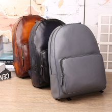 Handmade patina leather backpack laptop bags mens Work Bags travelling rucksacks knapsacks Custom Backpack Manufacturer