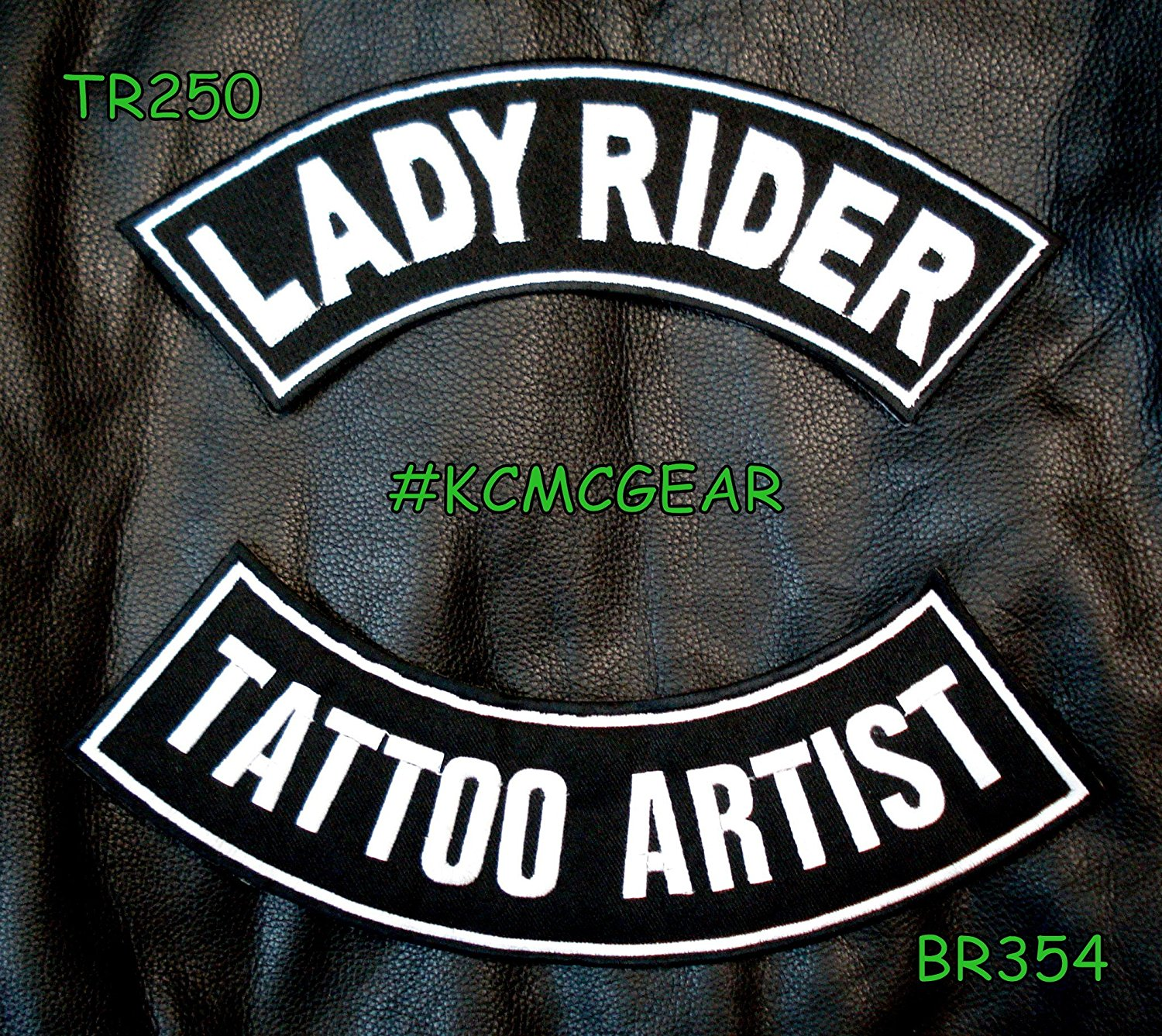 Lady Rider Tattoo Artist Embroidered Patches Motorcycle Biker Patch Set for Jackets