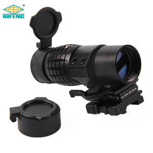 Tactical Optics Red Dot Sight Scope 3x Magnifier Type With Quick Flip To Side Weaver Rail Mount Hunting Scopes