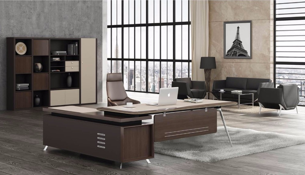 Standard executive office table size 505 t01 general for Manager office design