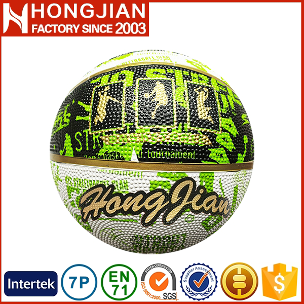 HB031 2016 sporting colorful rubber basketball
