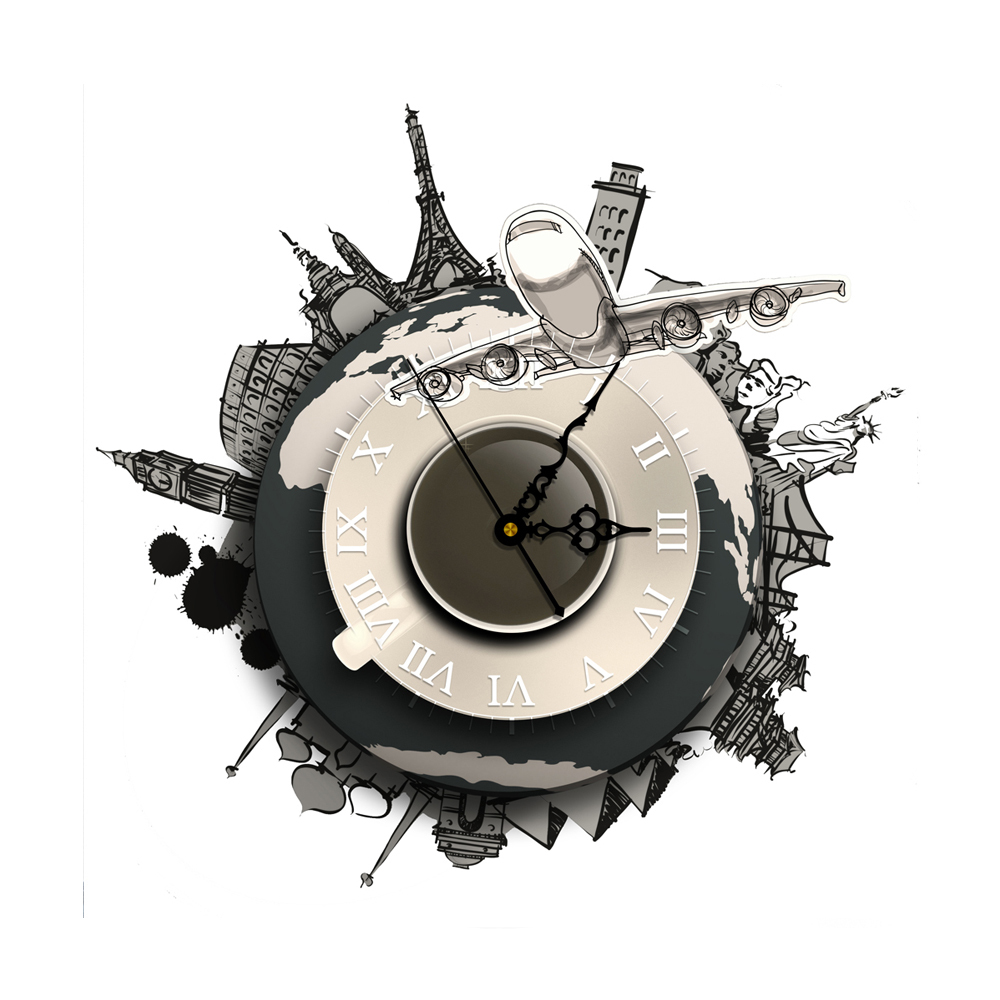 Room Decoration 3d Effect Wall Clock Black Wall Stickers