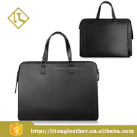 Lawyers Briefcase, genuine Leather Shoulder Cross-body Laptop Business Bag For Men