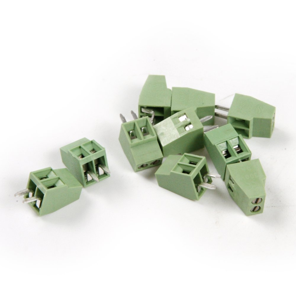 Atoplee 30pcs 2 Pole 2.54mm Pitch PCB Mount Screw Terminal Block Connector