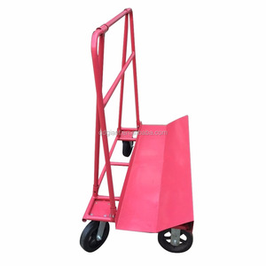 red steel frame heavy duty glass turnover moving hand trolley cart GT110