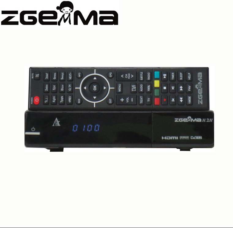 Super Wholesale Zgemma H.2H FTA Satellite/Cable Receiver Dual Core E2 With DVB-S2+T2/C Twin Tuners AT Factory Price