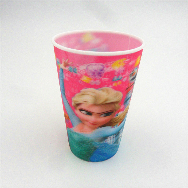 Animation Cartoon High Quality Custom Printing 3D Lenticular Plastic Straw Cups