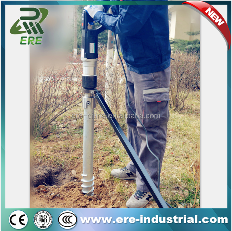 Screw Piles Driven Pile Machine electric pile driver for ground screw