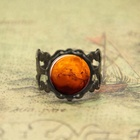 Mars ring God of War Scorpio Planet glass Photo Cabochon ring