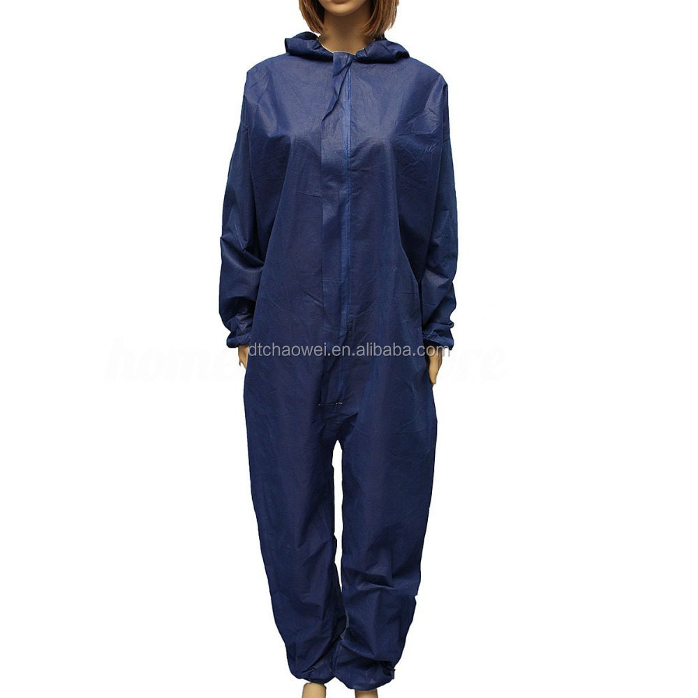 Disposable full body protective coverall suit