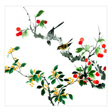 2018 traditional hand-embroidered flowers and birds home decoration embroidery