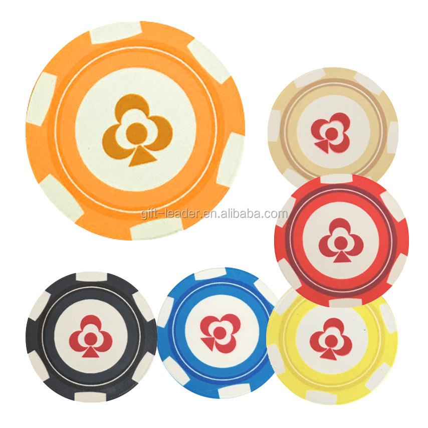 Souvenir goedkope ultieme 40mm standaard maat 14 gs keramische aangepaste afdrukbare zowel side decals casino klei Texas poker chips