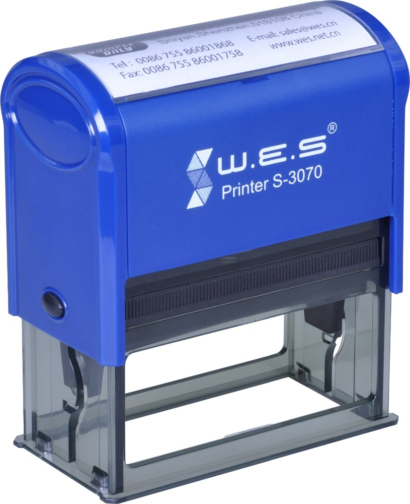 Plastic Material And Self-inking Stamp Type Office Stamp