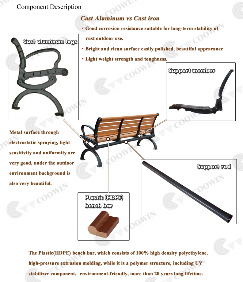 Park Bench Parts With Long Service Life Time Buy Park Bench Parts