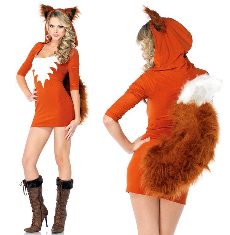 27cf35734cb0 Get Quotations · new fashion Sexy adult Halloween Women Fox Lady Costume  cosplay fox animal costume Sexy Bunny costumes