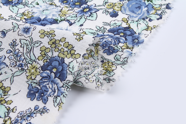 Factory direct sale garment material dye linen printed shirting polyester fabric