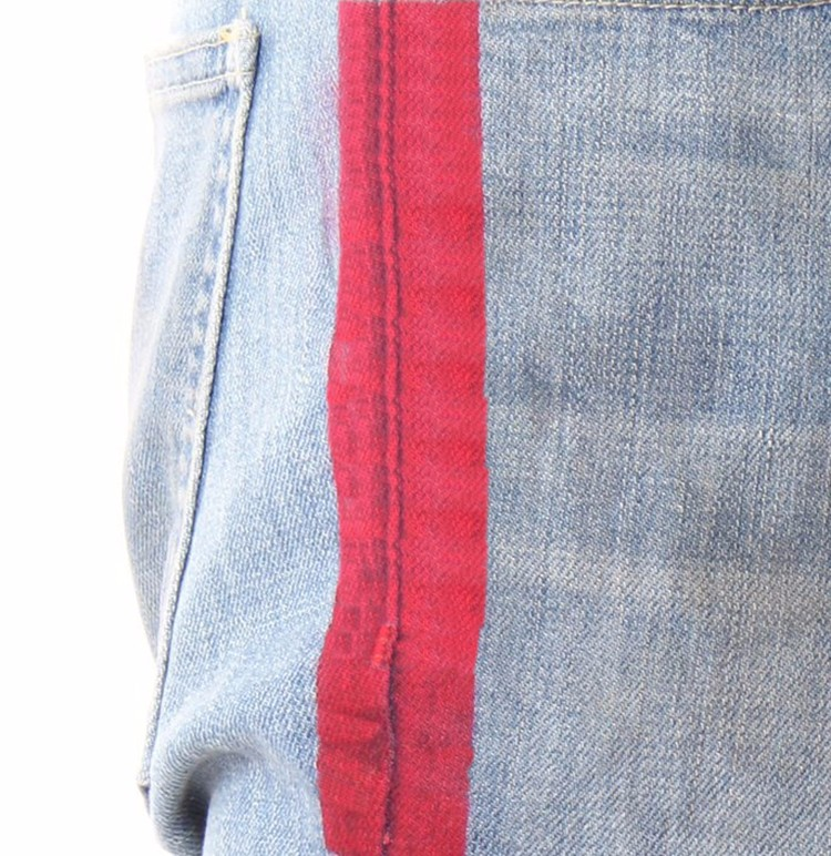 d9bf02e08affd1 Royal wolf denim garment factory vintage blue knee ripped ankle zip jeans  red stripe men fashion denim jeans. More links about our factory you may ...