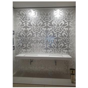 Js Mp Da01 Wholesale Decorative Wall Tiles Pattern Silver Leaf Glass Mosaic Tile Bathroom Tile Design Backsplash Buy Silver Mosaic Backsplash