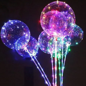 New 2019 gift LED latex balloon light wholesale air balloon party birthday business clear round transparent bobo balloon