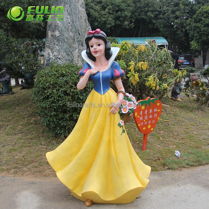 Customized beautiful handmade fairy crafts resin garden snow white